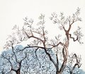 Traditional Chinese painting of plum blossom Royalty Free Stock Photo