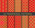 Traditional chinese pattern set, vector Royalty Free Stock Photo