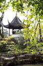 Traditional Chinese pavilion, Suzhou, China Royalty Free Stock Photo