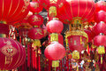 Traditional chinese red lanterns in shanghai Royalty Free Stock Images