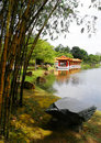 Traditional Chinese style garden & lake Royalty Free Stock Photo