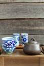 Traditional chinese tea ceremony accessories on the tea table Stock Images