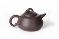 Traditional chinese tea ceremony tea pot on white background clayware Royalty Free Stock Images