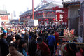 Traditional chinese temple fairs at spring festival tianjin china Royalty Free Stock Photography