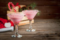 Traditional Christmas candy cane punch Royalty Free Stock Photo