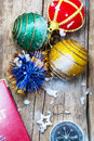 Traditional christmas decorations decoration and toy during winter holidays Royalty Free Stock Images
