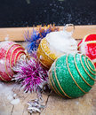 Traditional christmas decorations decoration and toy during winter holidays Stock Photography