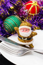 Traditional christmas decorations decoration and toy during winter holidays Royalty Free Stock Photos