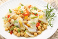 Traditional christmas portuguese dish boiled cod f fish with chickpeas mediterranean diet Stock Images