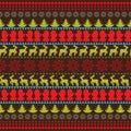 Traditional Christmas seamless horizontal pattern vector
