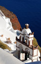 Traditional church in Santorini island, Greece Royalty Free Stock Image