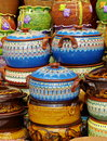 Ceramic from Bulgaria. Traditional bulgarian colored pottery Royalty Free Stock Photo