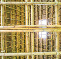 Traditional construction as the roof thai from bamboo and straw Stock Images