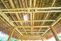 Traditional construction as the roof thai from bamboo and straw Royalty Free Stock Image