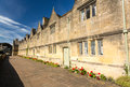 Traditional cotswold stone almshouses Stock Images
