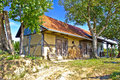 Traditional cottage made of wood and mud in croatia region prigorje Royalty Free Stock Images