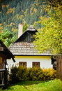 Traditional country house. The autumn