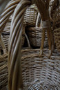 Traditional craft wicker baskets detailed handicraft souvenir handmade basket handles closeup stock photos Stock Images