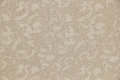Traditional cream beige color leaf filigree pattern seamless for background Royalty Free Stock Photos