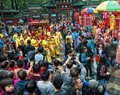Traditional culture parade foshan china april temple of god religion and temples birthday taoists held a large scale celebration Stock Photo