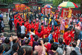 Traditional culture parade foshan china april temple of god religion and temples birthday taoists held a large scale celebration Royalty Free Stock Photography