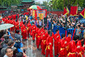 Traditional culture parade foshan china april temple of god religion and temples birthday taoists held a large scale celebration Royalty Free Stock Photos