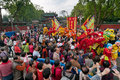 Traditional culture parade foshan china april temple of god religion and temples birthday taoists held a large scale celebration Royalty Free Stock Images