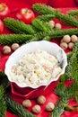 traditional Czech Christmas potato salad Royalty Free Stock Photo