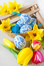 Traditional Czech easter decoration - regional wooden ratchet Royalty Free Stock Photo