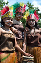 Traditional Dancer of Papua Royalty Free Stock Photography
