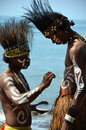 Traditional Dancer of Papua Stock Photos