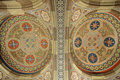 Traditional decoration on church ceiling Royalty Free Stock Image