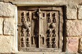 Traditional Dogon carved granary door Royalty Free Stock Images