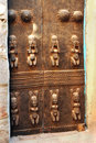 Traditional Dogon carved house door Royalty Free Stock Photography
