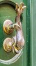 Traditional door handle, Malta Royalty Free Stock Photo