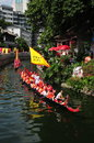 Traditional dragon boat in guangzhou on june nd the chinese duanwu festival many boats from neighbouring villages parade on the Stock Photography