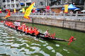 Traditional dragon boat in guangzhou on june nd the chinese duanwu festival many boats from neighbouring villages parade on the Royalty Free Stock Photography