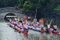 Traditional dragon boat in guangzhou on june nd the chinese duanwu festival many boats from neighbouring villages parade on the Stock Photo