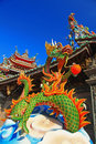 Traditional dragon decoration in temple Royalty Free Stock Images
