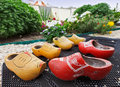 Traditional Dutch Decoration wooden shoes Royalty Free Stock Image