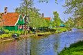 Traditional dutch houses at the historic village of zaanse schans Stock Images