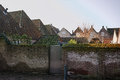 Traditional Dutch old roofs in small village Royalty Free Stock Photo