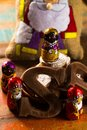 Traditional Dutch Saint Nicolas celebration with presents for ch Royalty Free Stock Photo