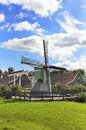 Traditional Dutch windmill. Royalty Free Stock Photo