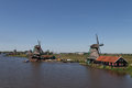Traditional Dutch windmills Royalty Free Stock Photography