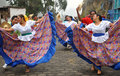 Traditional Ecuadorian Dancers Royalty Free Stock Images