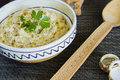 Traditional eggplant caviar romanian detail Royalty Free Stock Photos