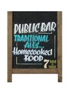 Traditional english pub sign isolated white background Royalty Free Stock Image