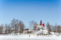 Traditional finnish winter landscape helsinki finland Royalty Free Stock Image