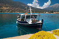 Traditional fishing boat at lefkada island greece Royalty Free Stock Photo